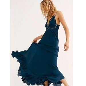 Free People One Adella Maxi Slip Dress